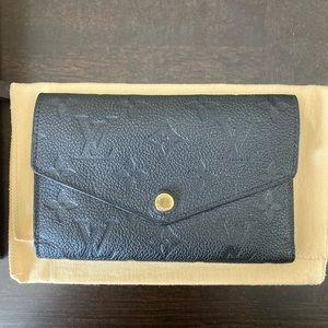Louis Vuitton compact curieuse wallet Noir